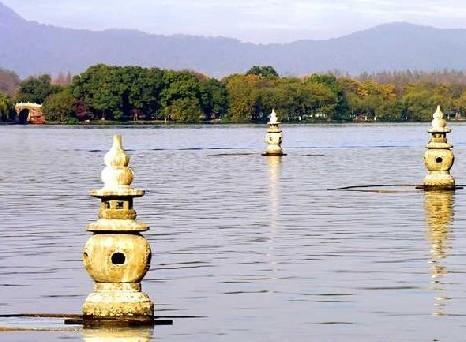 杭州西湖美景手绘儿童