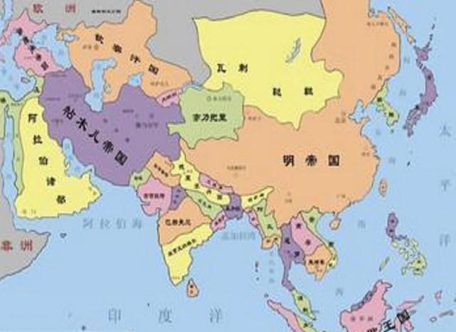 元朝年间中国地图