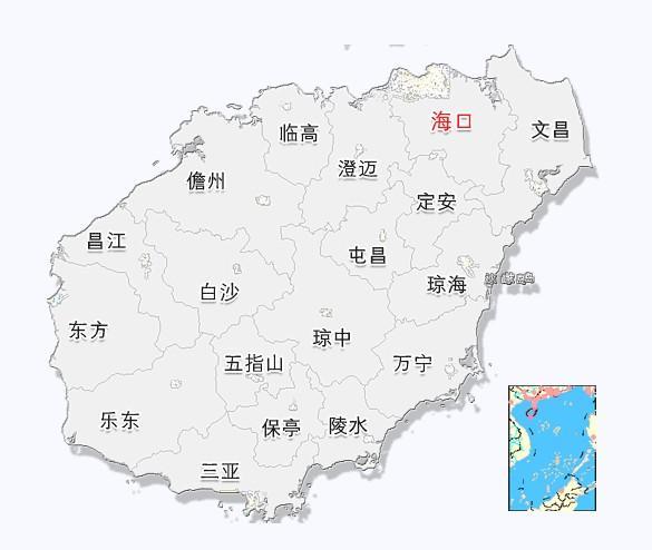 又称琼州,陆地面积33210平方公里,为中国省级行政区海南省的主岛.图片