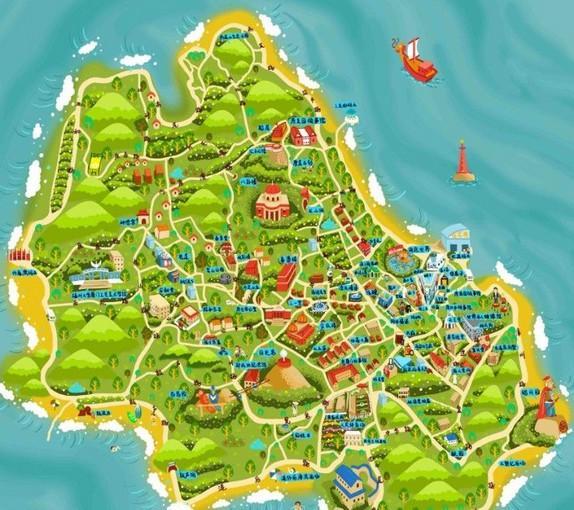趣淘-鼓浪屿手绘地图