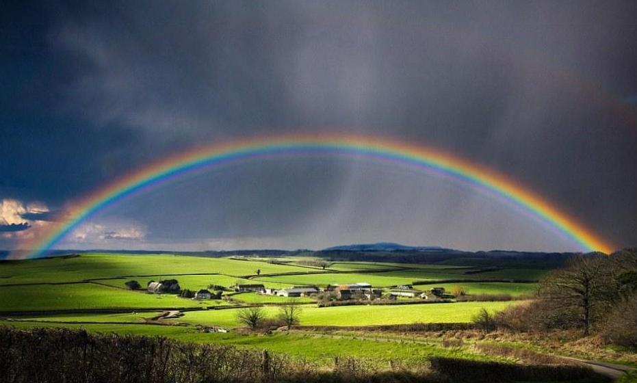 5526,雨后初晴现彩虹(原创) - 春风化雨 - 诗人-春风化雨的博客