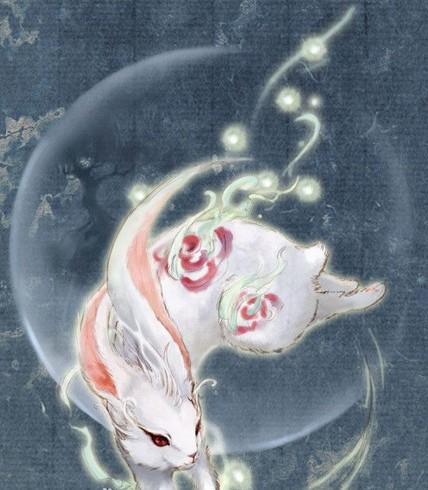 嫦娥玉兔手绘图