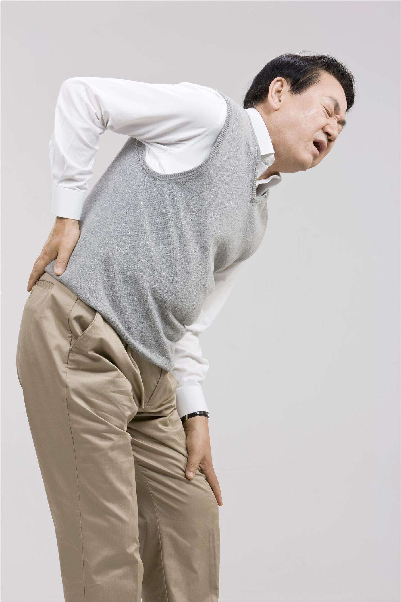 腰酸背痛图片 可爱