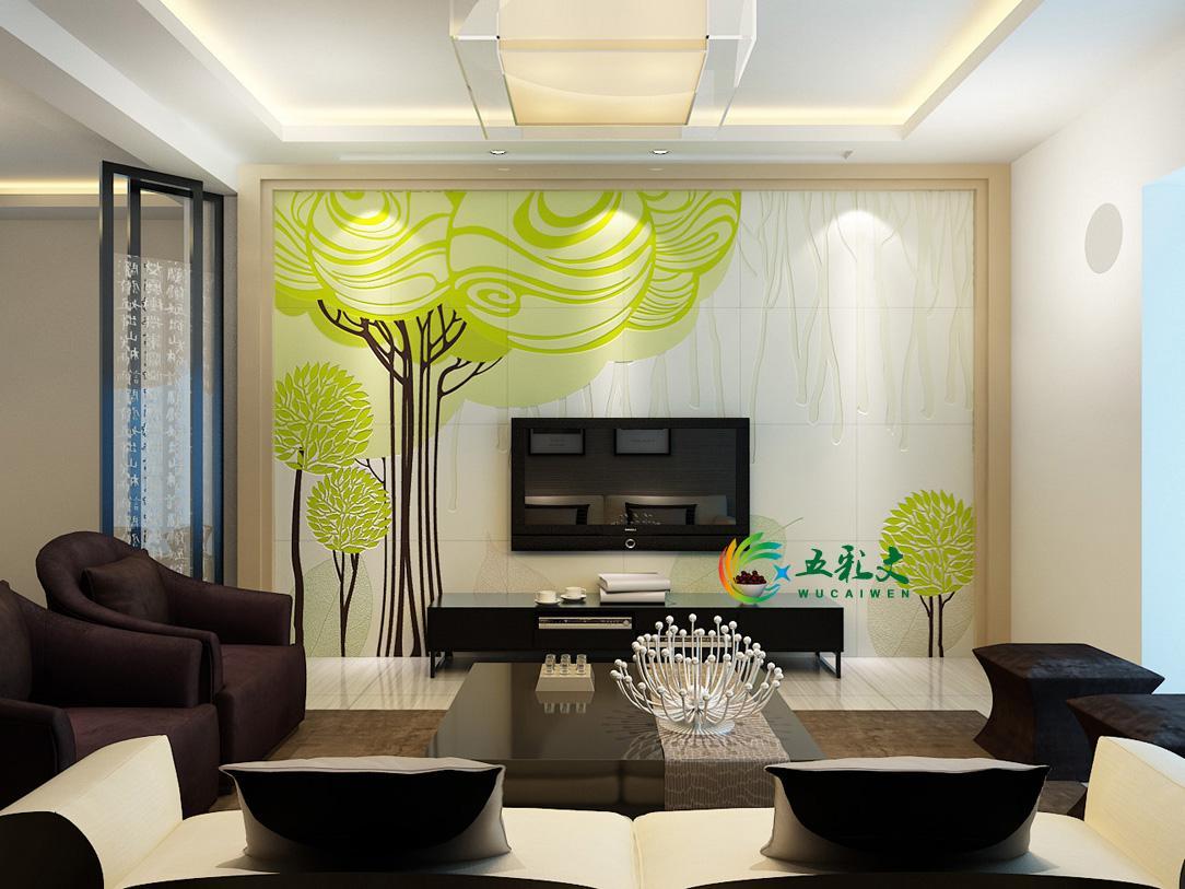 玖玖鱼瓷砖背景墙设计;