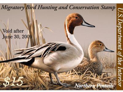 世界各国也出于保护鸟类动物发行各种鸭票