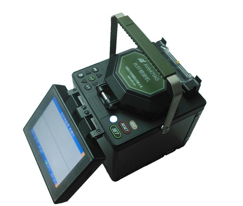 两根光纤采用热熔技术,按照干线标准来进行的熔接,大大降低了熔接损耗
