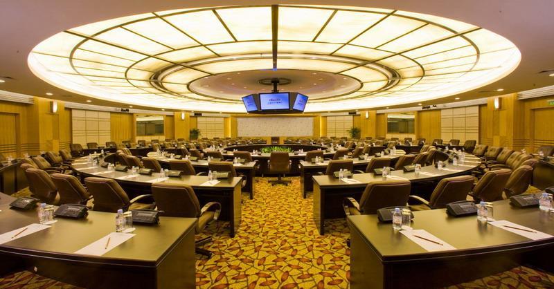 会议中心室内效果图; 国际会议大厦立体图分享_清美网;