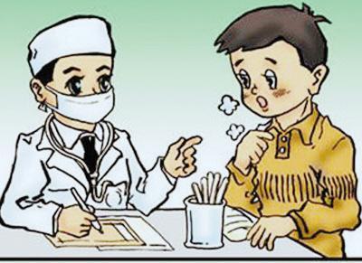 咳嗽痛苦的图片卡通