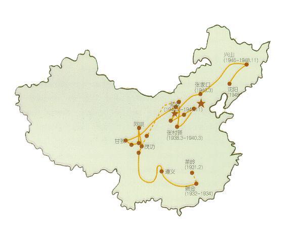 中国沈阳地图简笔画