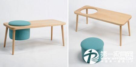 创意家具图片欣赏 [1] 适合孩子写作业画图画的高度,木凳就变成书桌