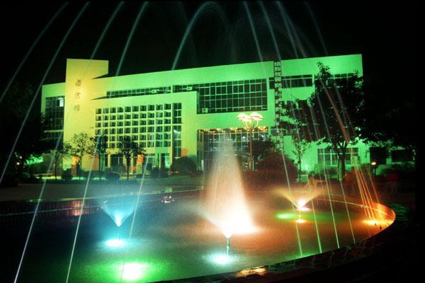 重庆邮电大学图书馆夜景图片
