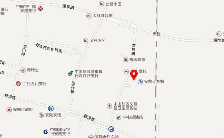 安陆站地图