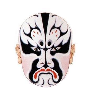 姜维脸谱手绘图片