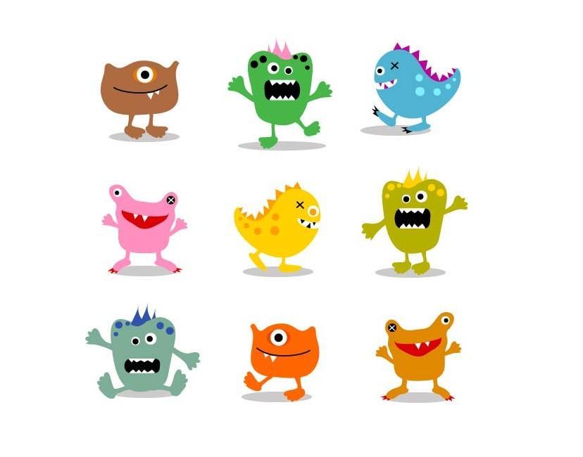 细菌卡通形象