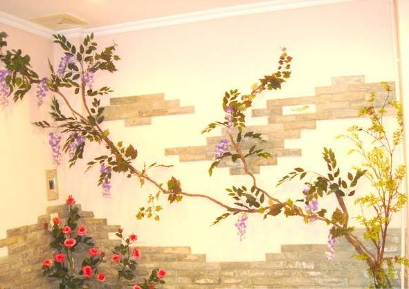浪漫味道手绘墙画
