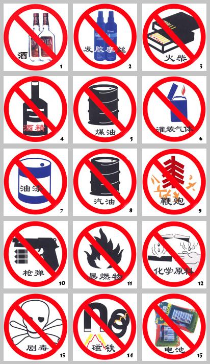 中国国际航空公司上机违禁品