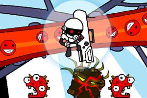 小游戏《机器人攻打病菌》