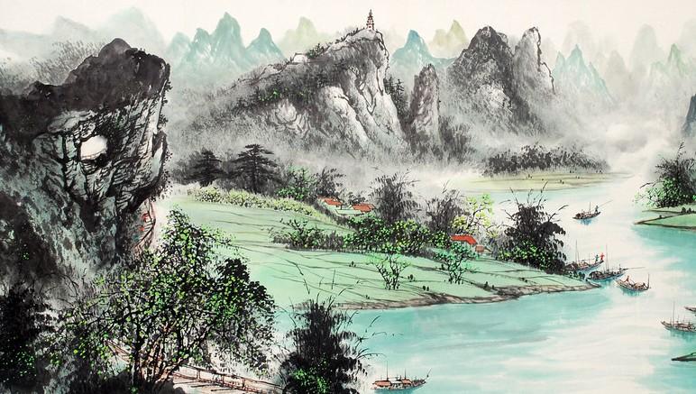 在荆浩开辟北派山水的同时; 中国山水画图片大全; 水墨画 - 搜搜百科