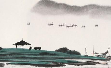 即有了一个系统的结构,以皴为法的笔墨成为中国山水画演义的美知主脉.