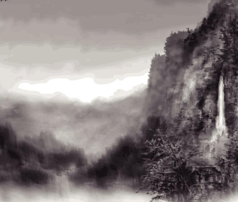 请问这个算中国山水画吗?