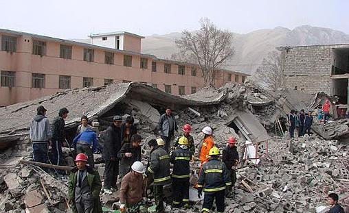 大房子地震的图片