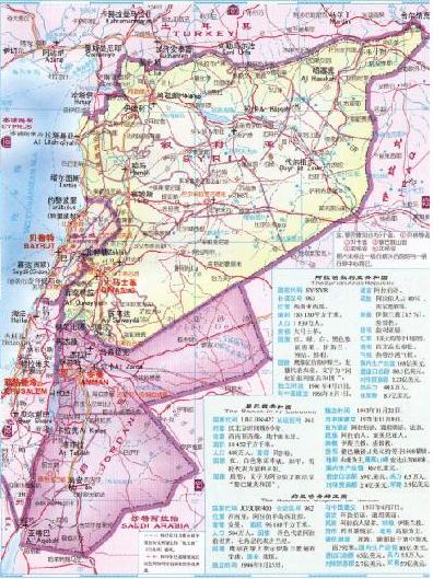 约旦交通地图
