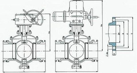 四通球阀结构图