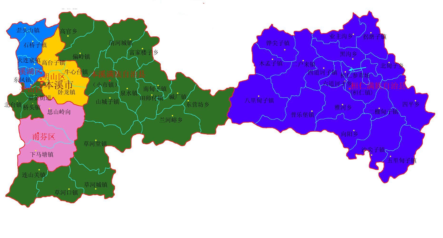 广州市区域行政地图