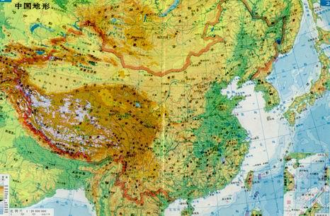 中国的地形