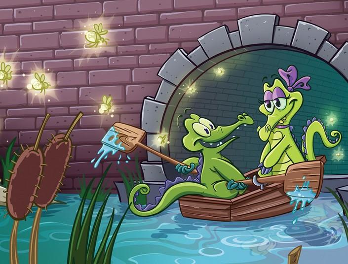 鸭子鳄鱼  漫画卡通