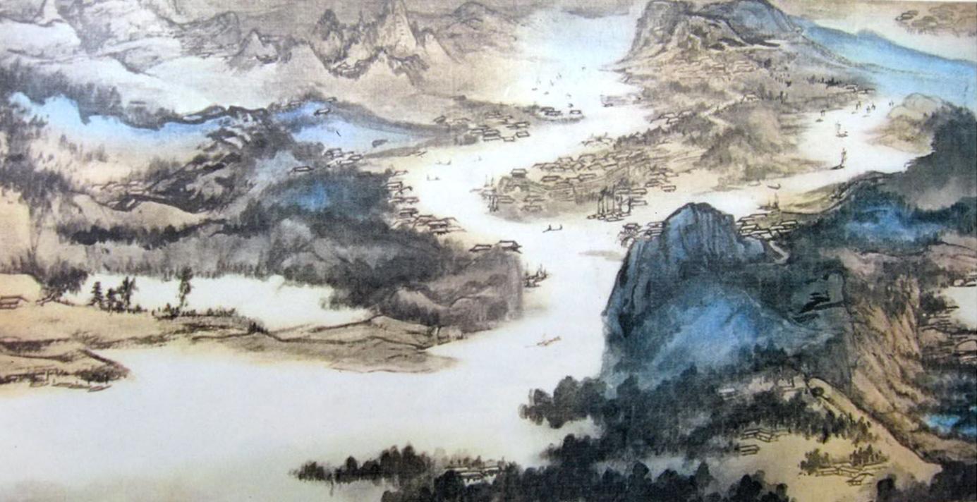 中国长江简笔画