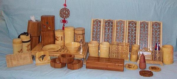 竹子制作的工艺品