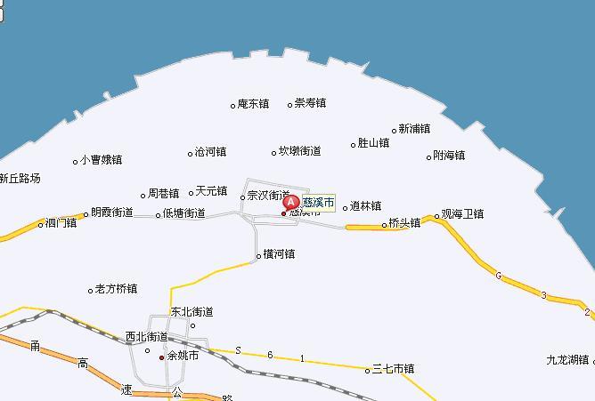 浙江省宁波市慈溪市地图