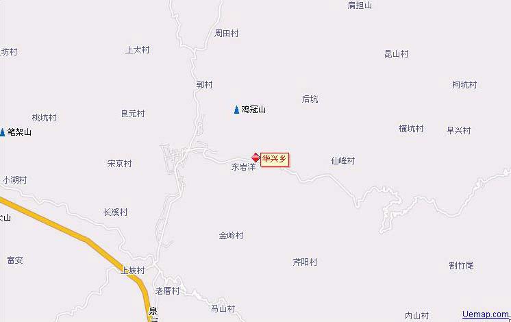 三明市大田县华兴乡地图