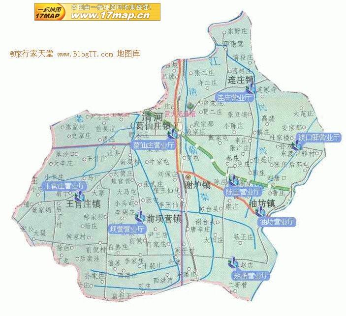 清河县地图