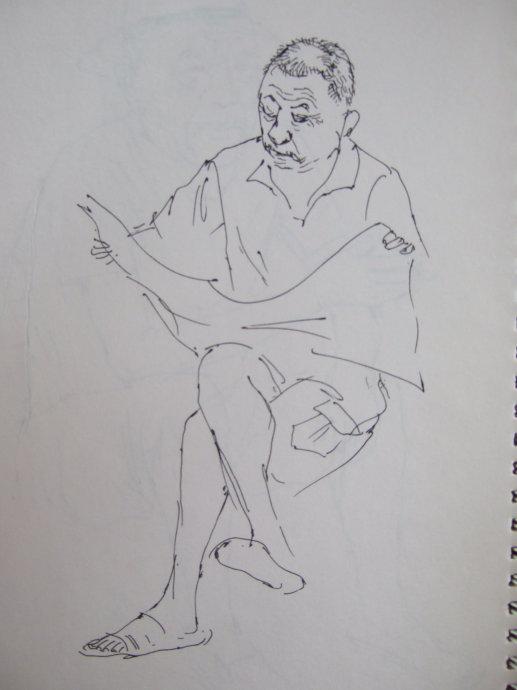 服装手绘身体速写图片