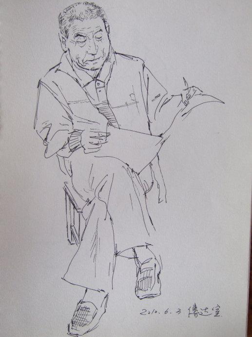 人物形象速写的方法是小头像速写和人物动态速写结合的画法.