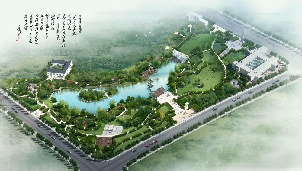 流芳公园规划鸟瞰图