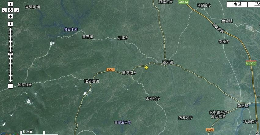 桃源县白洋河卫星地图2