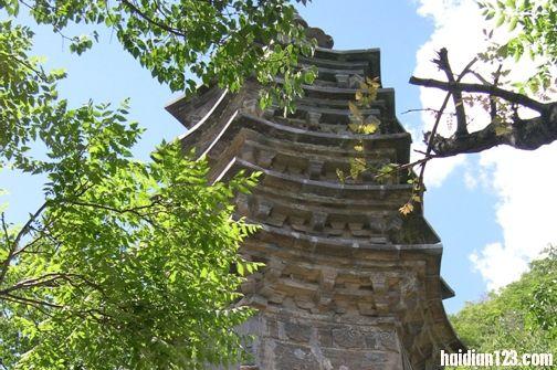 公园北线景点的玲珑塔建于元代