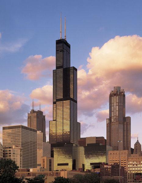 如:西尔斯大厦,芝加哥大学