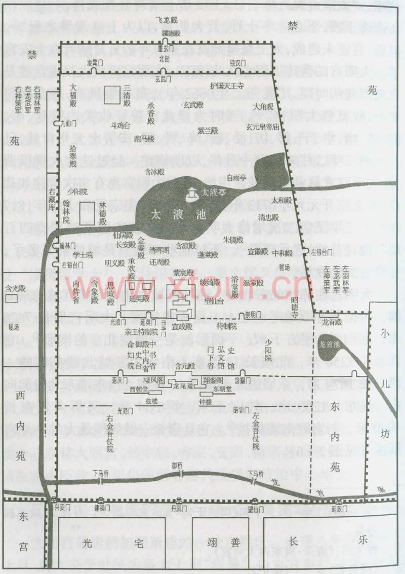 大明宫平面图