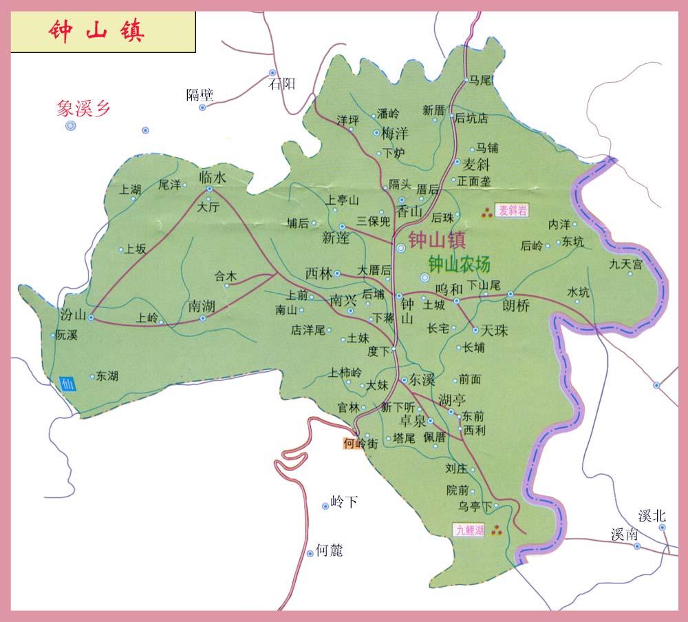 漫步钟山手绘地图