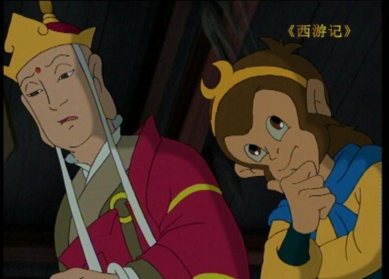 《西游记》孙悟空(右)与唐僧