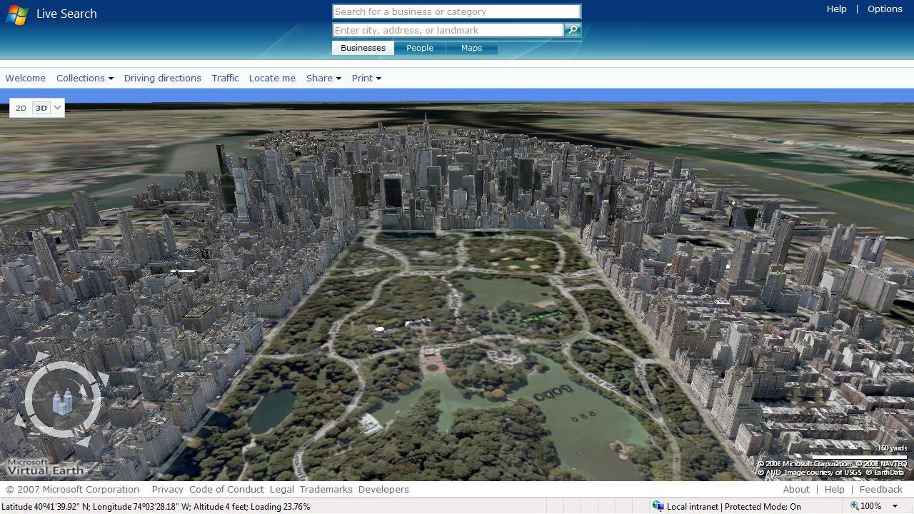中央公园网上地图