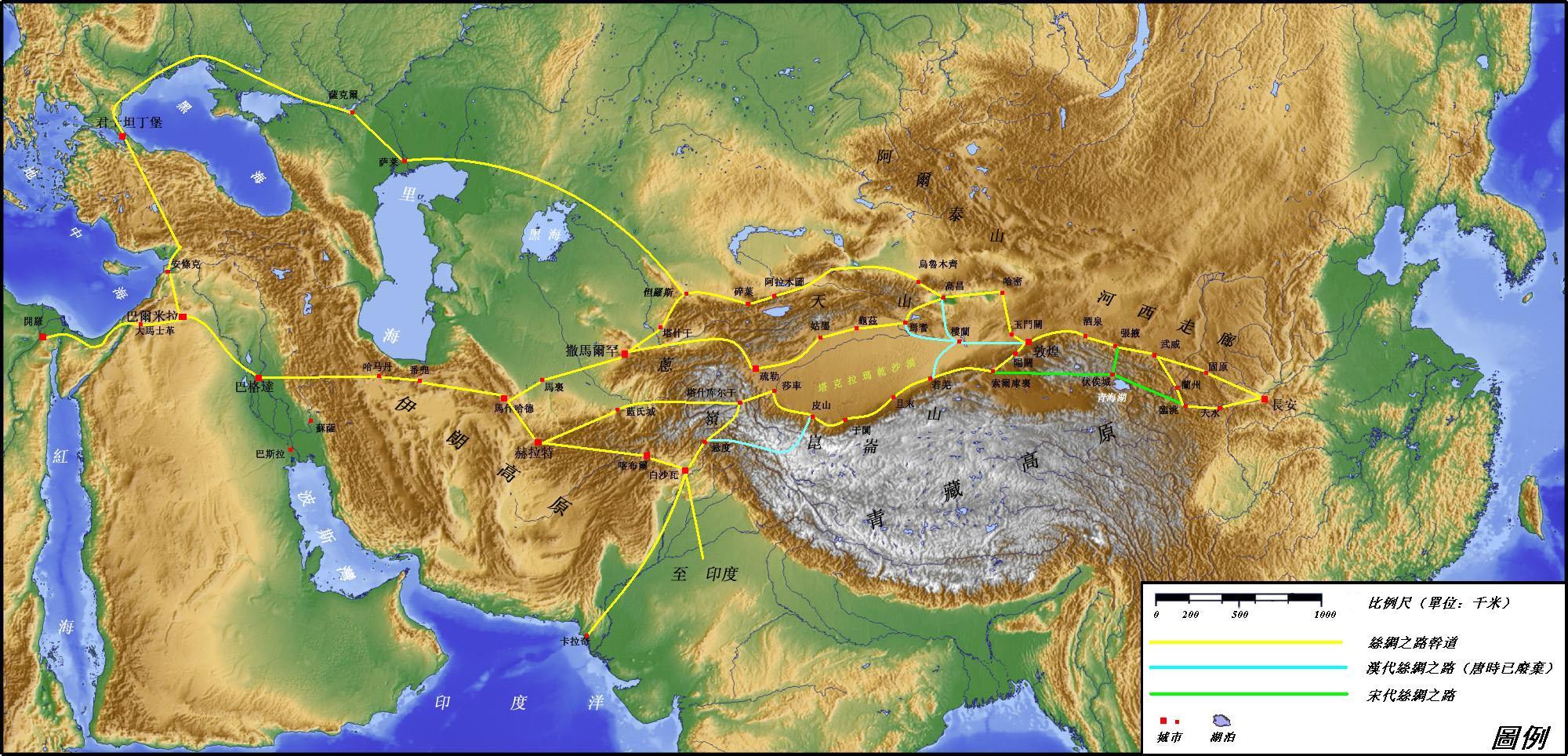 丝绸之路(古代交通路线);