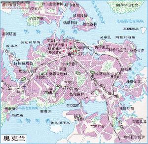 奥克兰地图