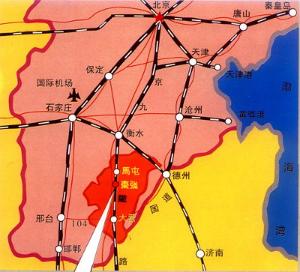 枣强县地图