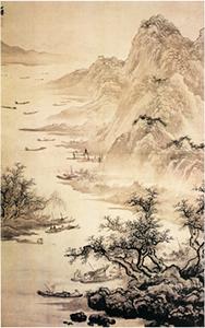 渔乐图 作者:吴伟