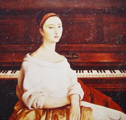 入选第十届全国美展,并获山东省美展一等奖;    2005年油画《下雪了》图片
